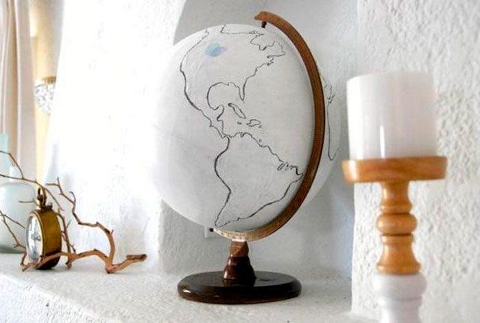 Глобус своими руками: 5 пошаговых мастер-классов с фото