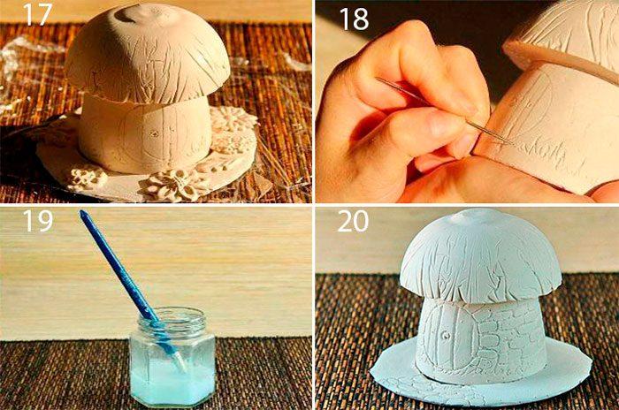 Гриб из гипса для сада своими руками, мастер-класс грибочка