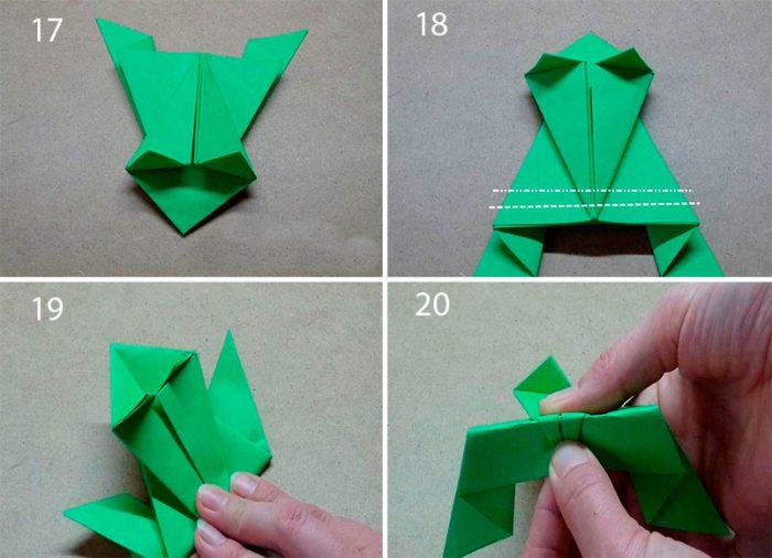 Как сделать лягушку из бумаги которая прыгает, пошаговая инструкция