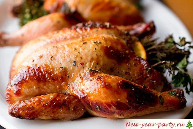 Курица в духовке целиком, пошаговый фото-рецепт на праздник