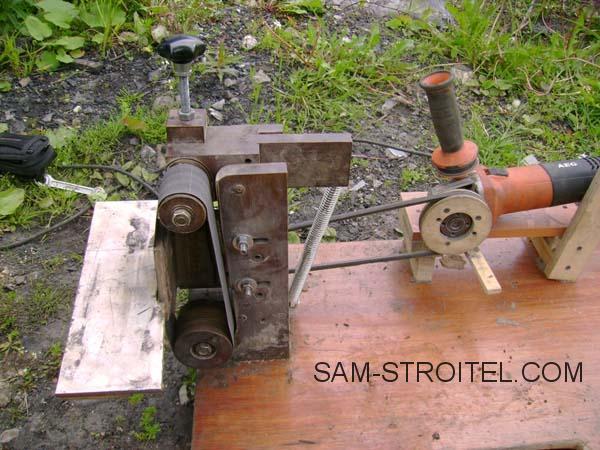 Ленточный шлифовальный станок сделанный своими руками из подручных материалов