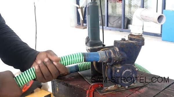 Мощный насос из болгарки и помпы: фото и описание изготовления самоделки