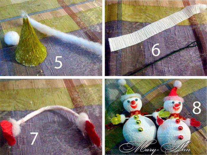 Новогодние поделки из гофрированной бумаги своими руками, 5 мастер-классов