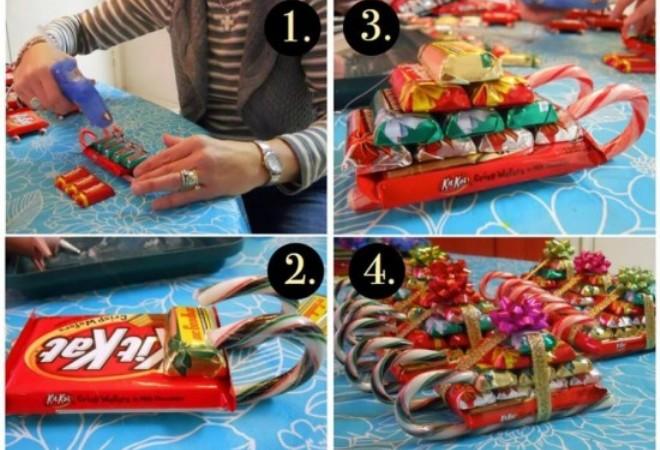 Новогодние поделки из конфет своими руками, идеи подарков