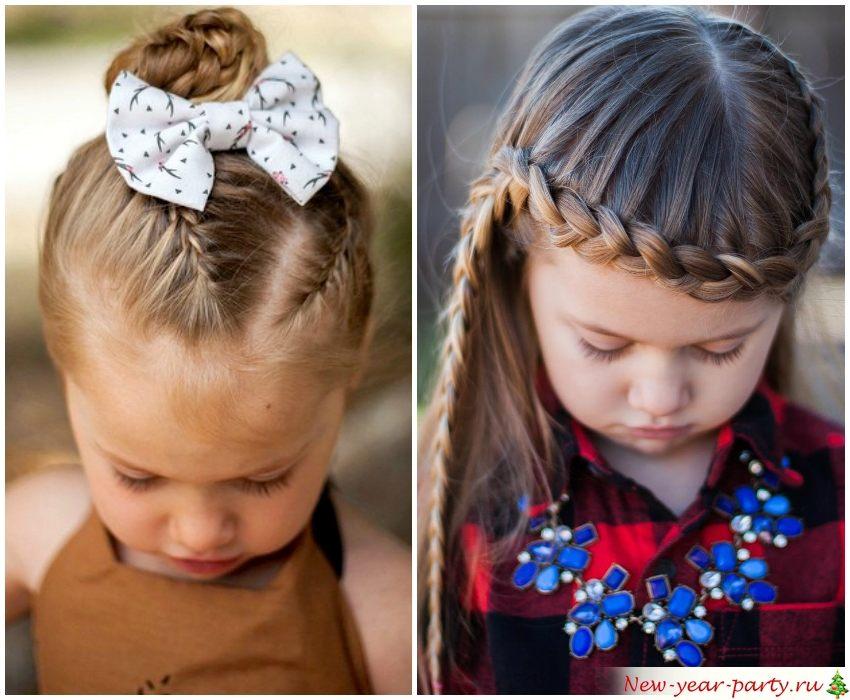 Новогодние прически для девочек, 100 фото идей 2020