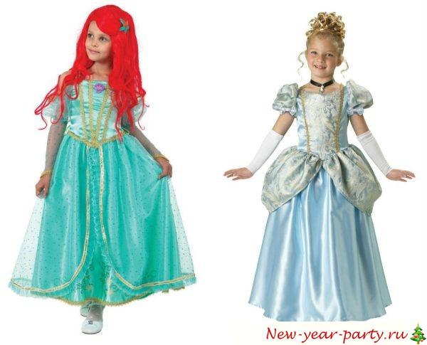 Новогодний костюм для девочек, фото моделей 2020 года
