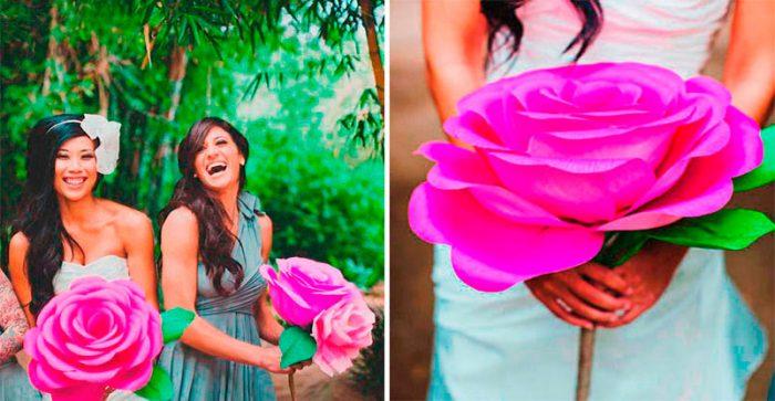 Огромные цветы из бумаги своими руками, мастер-классы с фото