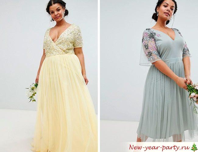 Платья на Новый год 2020 для полных красоток