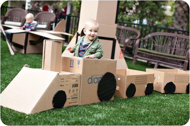Поделки из картонных коробок своими руками, идеи с фото
