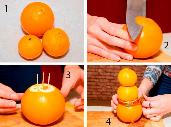 Поделки из мандарин на Новый год своими руками: 7 мастер-классов