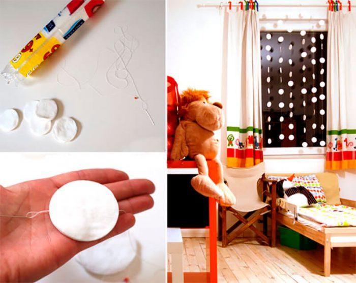Поделки из ватных дисков на Новый год своими руками, мастер-классы