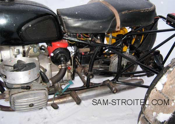 Самодельный вездеход сделанный из мотоцикла Днепр МТ10-36