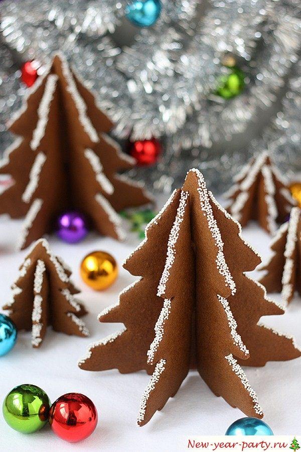 Сладкая елка из пряников и печенья, рецепт, мастер-классы, фото-идеи