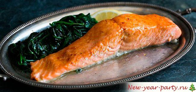 Стейки форели (лосося) на сковороде