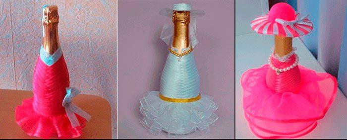 Украшаем шампанское на Новый год своими руками, идеи с фото