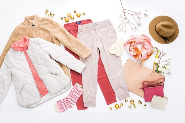 Зимние образы 2020 в золотом и розовом цветах
