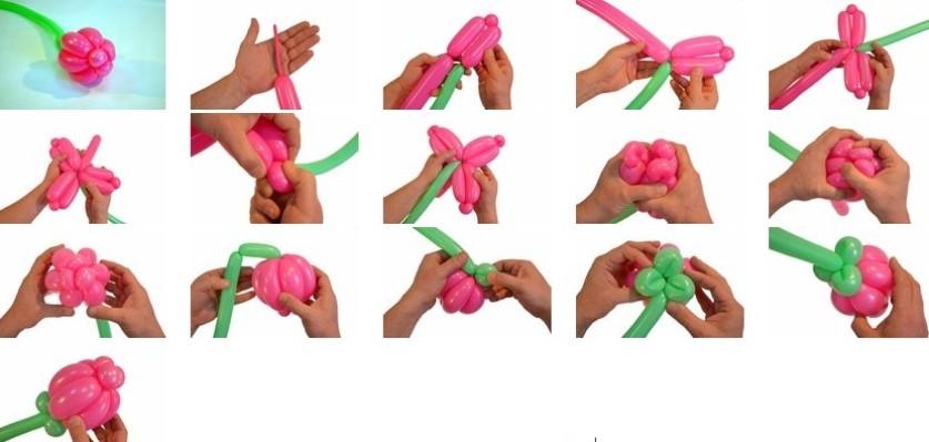 как сделать простые и интересные фигурки из шаров (видео + 120 фото)