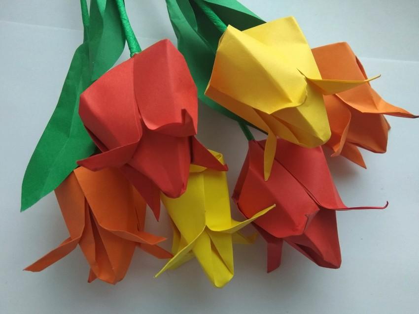 Поделки из цветной бумаги - 115 фото основных техник создания объемных поделок
