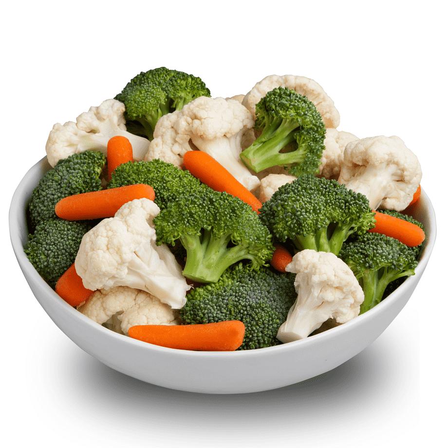 морковь, цветная капуста и брокколи