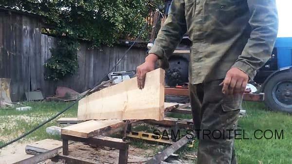 Ленточная пилорама своими руками (21 фото + описание самоделки)