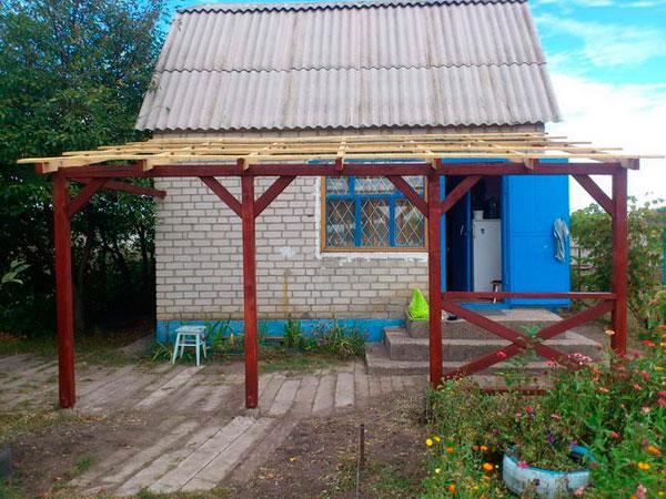 Навес на даче своими руками: пошаговое строительство