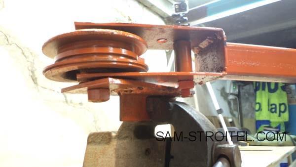 Рычажный трубогиб своими руками из металлолома