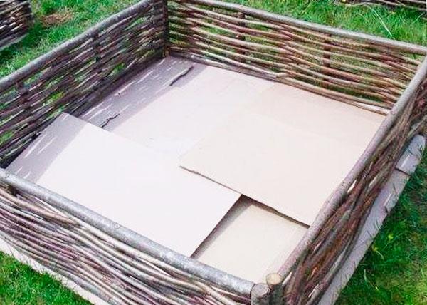 Высокие грядки из плетня: пошаговое изготовление с фото