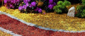декоративная щепа в дизайне сада